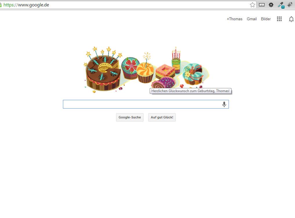 Mein eigener Google Startbildschirm! Wow!